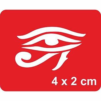 Horus'un Gözü Dövme Þablonu Kýna Deseni