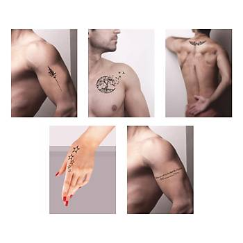 Ulu Aðaçlar Sprey Dövme ve Þablon Seti Tattoo