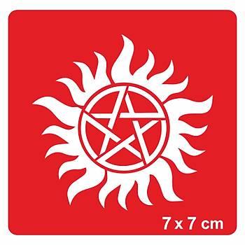 5 Element-Pentagram Dövme Þablonu Kýna Deseni