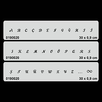 Büyük Harf El Yazýsý Font -2 Dövme Þablonu Kýna Deseni