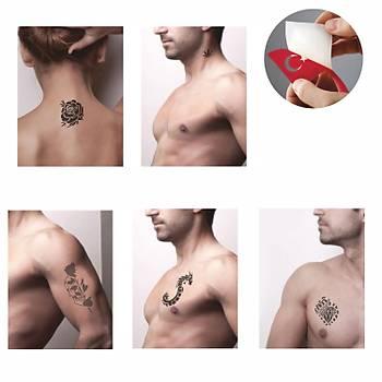 Korkusuz Savasçýlar Sprey Dövme ve Þablon Seti Tattoo