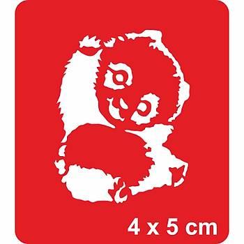 En Sevimli Panda Dövme Þablonu Kýna Deseni