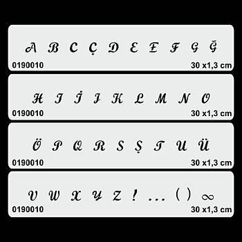 Büyük Harf El Yazýsý Font -1 Dövme Þablonu Kýna Deseni
