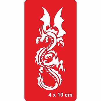 Muhteþem Dragon Dövme Þablonu Kýna Deseni