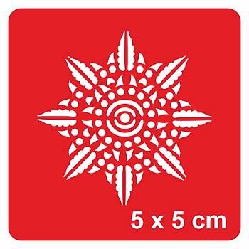 Mandala 373 Dövme Þablonu Kýna Deseni