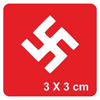 Swastika Gamalý Haç Dövme Þablonu Kýna Deseni