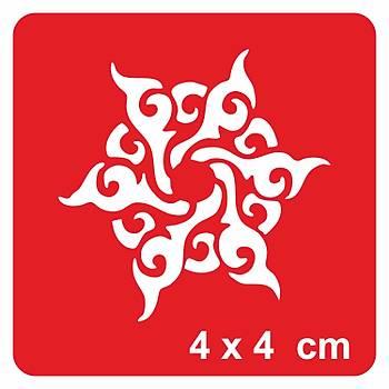 Tribal Mandala -2 Dövme Þablonu Kýna Deseni