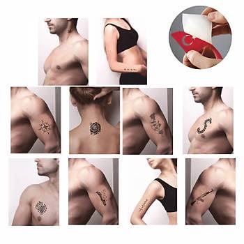 Efsane Dövmeler 10 Desen 2 Sprey Geçici Dövme Seti Tattoo