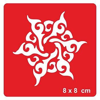 Tribal Mandala -1 Dövme Þablonu Kýna Deseni