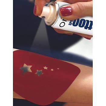 Kýna Dövmesi Modeli ve Sprey Kýna Seti Tattoo Dövme