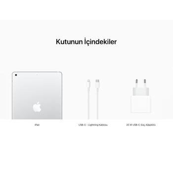 iPad 10.2'' (8.Nesil) Wi-Fi 128GB Gümüþ MYLE2TU/A