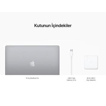 """MacBook Pro 16"""" i9 2.4GHz 32GB 1TB SSD 8GB 5500M S.Grey Z0Y0005QT (MVVK2TU/A Konfigürasyon)"""
