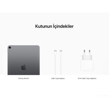 iPad Air 10.9'' Wi-Fi 64GB Uzay Grisi MYFM2TU/A
