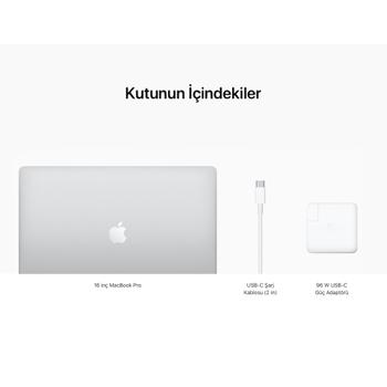 """MacBook Pro 16"""" Touch Bar i9 2.3GHz 16GB 1TB SSD 4GB 5500M Silver MVVM2TU/A"""