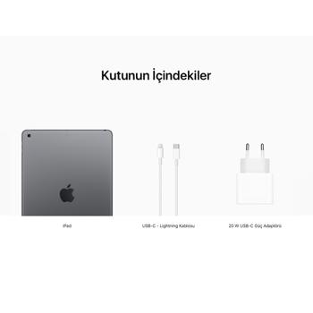 iPad 10.2'' (8.Nesil) Wi-Fi + Cellular 128GB Uzay Grisi MYML2TU/A