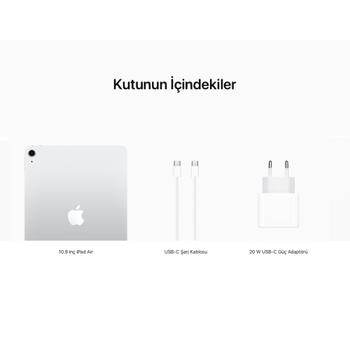 iPad Air 10.9'' Wi-Fi + Cellular 64GB Gümüþ MYGX2TU/A