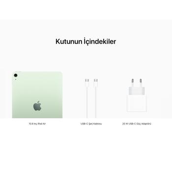 iPad Air 10.9'' Wi-Fi 256GB Yeþil MYG02TU/A