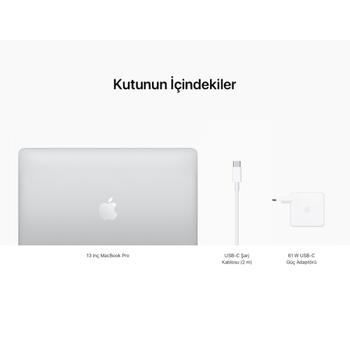 """MacBook Pro 13"""" 8-Core CPU 8-Core GPU Apple M1 8GB 256GB SSD Silver MYDA2TU/A"""