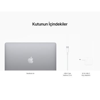 "MacBook Air 13"" 8-Core CPU 7-Core GPU Apple M1 16GB 256GB SSD S.Grey Z1240009K (MGN63TU/A Konfigürasyon)"