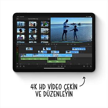 iPad Air 10.9'' Wi-Fi + Cellular 64GB Gök Mavisi MYH02TU/A