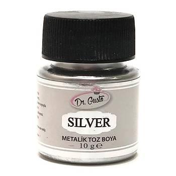 Dr Gusto Metalik Toz Dekor Boya Gümüþ (10 gr)