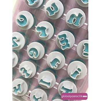 Basmalý Alfabe Kalýbý Set- Küçük harf