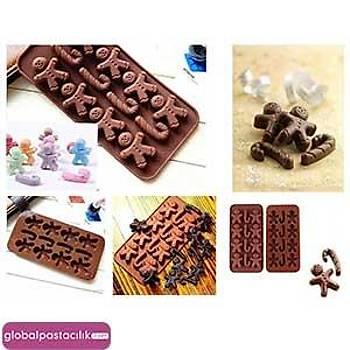Silikon Çikolata Kalıbı Bisküvi Adam Figürlü