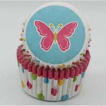 Kelebek Cupcake Kaðýdý 100 Adet