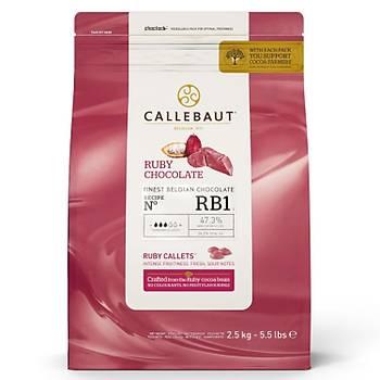 Callebaut-RB1 Ruby Yakut Çikolata %47,3 (2,5Kg)