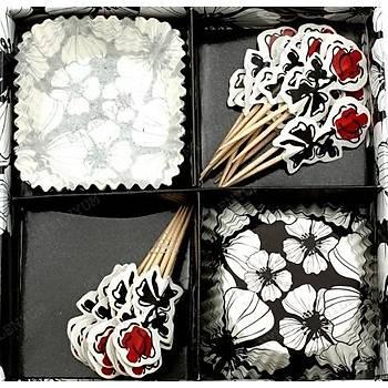 Moonster High Çiçekler Cupcake Kaðýdý