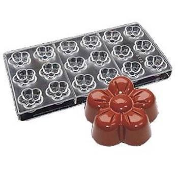 Polikarbon Çikolata Kalýbý Çiçek