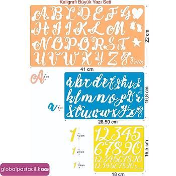 Stamp Curly Kaligrafi Harf Kalýbý Seti