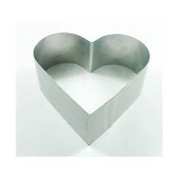 Yüksek Kalp Pasta Çemberi 25,5*22,5*14 cm