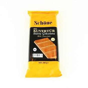 Schöne Sütlü Kuvertur Çikolata 200gr