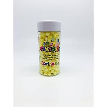 Sarý 2 mm Boncuk Sprinkles 45 gr.