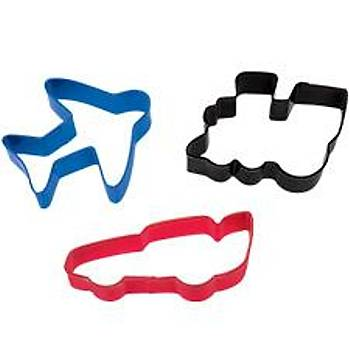 3 Pc. Wheels Cookie Cutter Set