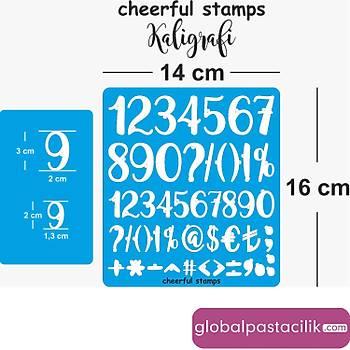 Stamp Curly Sayý Kaligrafi Modeli
