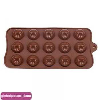 Silikon Çikolata Kalýbý Noktalý Top