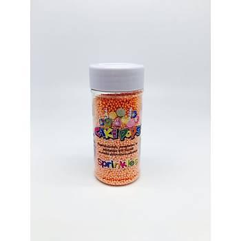 Turuncu 2 mm Boncuk Sprinkles 40 gr.