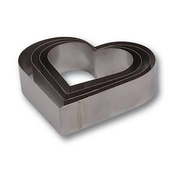 Yüksek Kalp Pasta Çemberi Set 10 cm