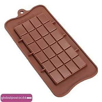 Silikon Çikolata kalýbý Kare Tablet