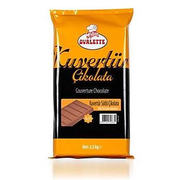 Ovalette Kuvertur Sütlü Çikolata 2,5 kg
