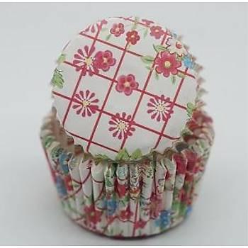 Çiçek Cupcake Kaðýdý 100 Adet