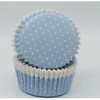 Mavi Cupcake Kapsül 100 Adet