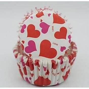 Kalpler Cupcake Kaðýdý 100 Adet
