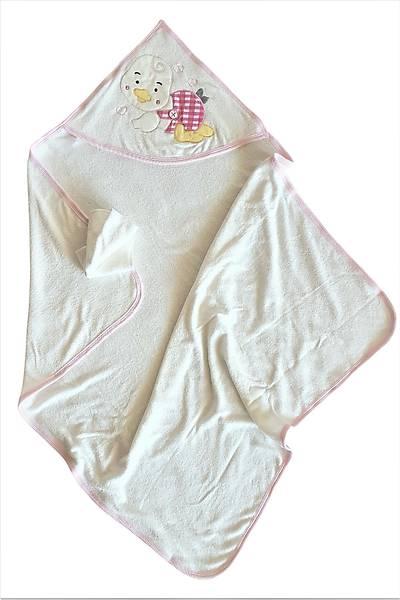 Beyaz Bebek Pamuklu Ördekli Havlu KAM20Ç006