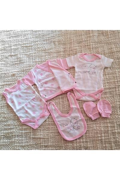 Baby Bibs PembePamuklu OnParça Hastane Çýkýþ Seti
