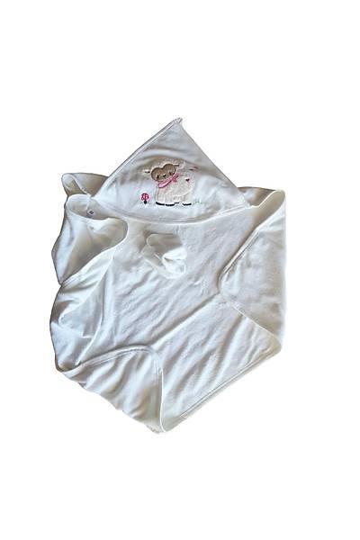 Babyline Kýz Bebek Havlusu Kuzulu Nakýþlý AYD20624