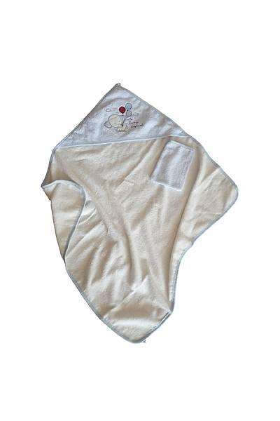 Mavi Baþlý Erkek Bebek Pamuklu Balonlu Havlu BAB20313516