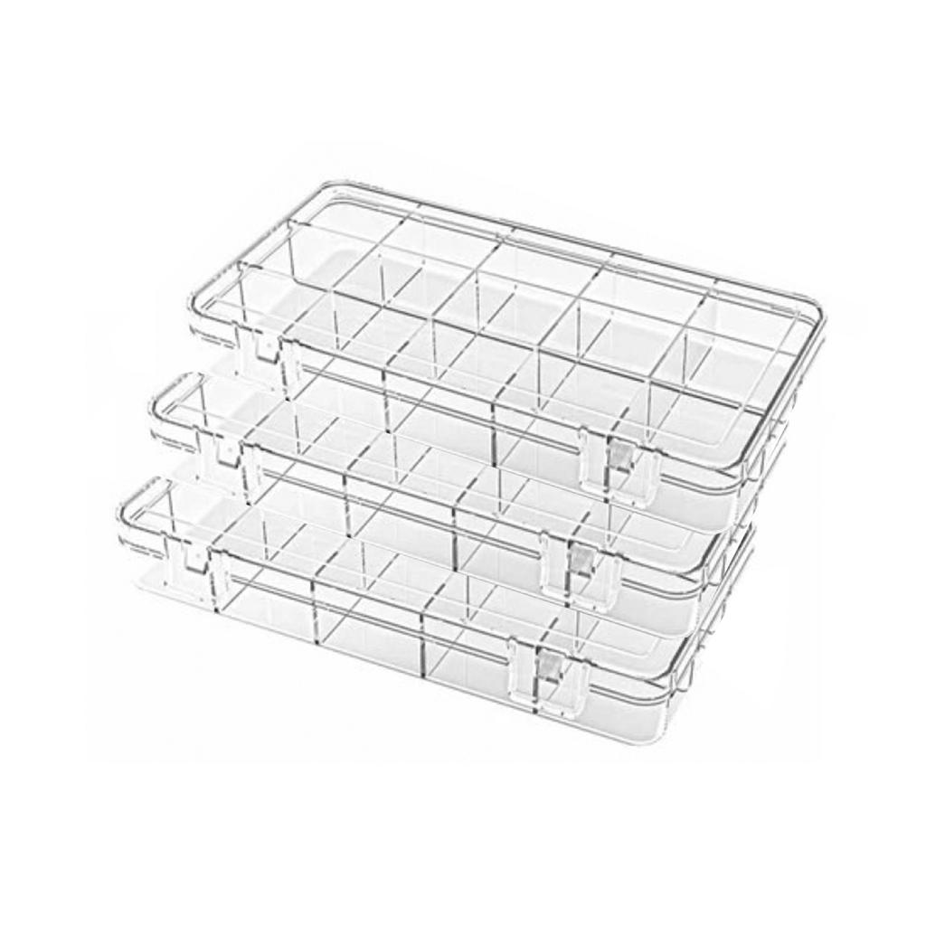15 Bölmeli Ayarlanabilir Kolye Yüzük Taký Kutusu Organizer Düzenleyici Plastik Kutu